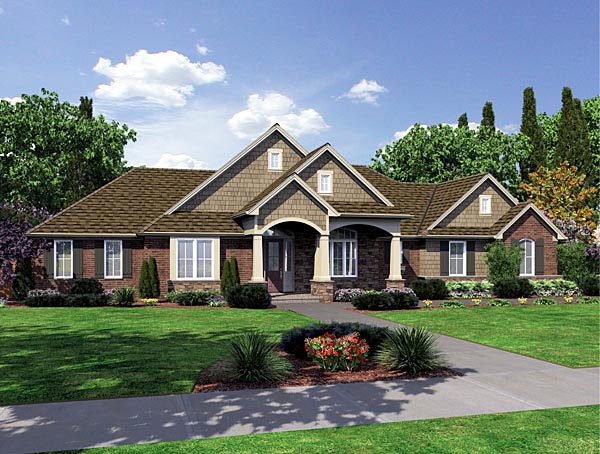 European House Plan 98630 Elevation