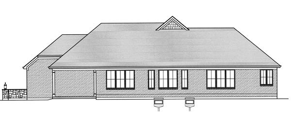European House Plan 98630 Rear Elevation