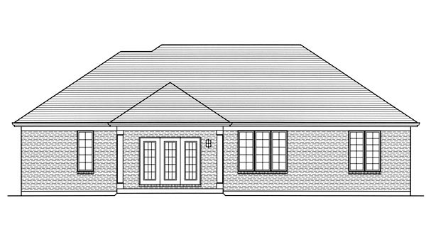 Traditional House Plan 98632 Rear Elevation