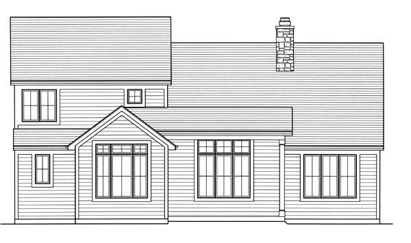 Craftsman House Plan 98633 Rear Elevation