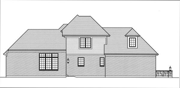 European House Plan 98634 Rear Elevation