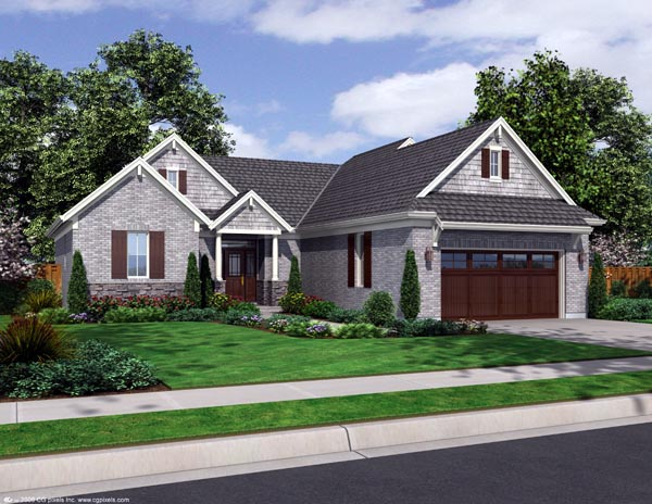 Craftsman House Plan 98636 with 3 Beds, 2 Baths, 2 Car Garage Elevation