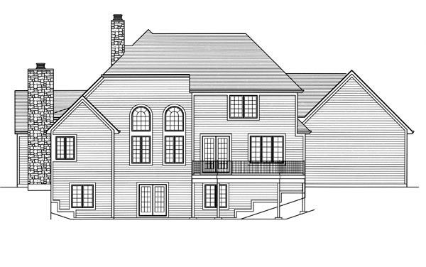 Colonial Country House Plan 98639 Rear Elevation