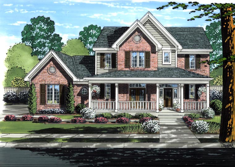 Traditional House Plan 98640 Elevation