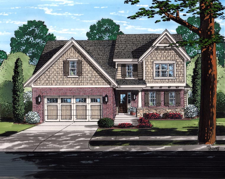 Traditional House Plan 98641 Elevation