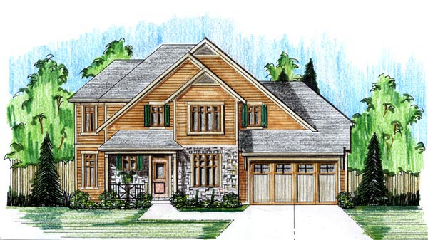 Craftsman Traditional House Plan 98644 Elevation