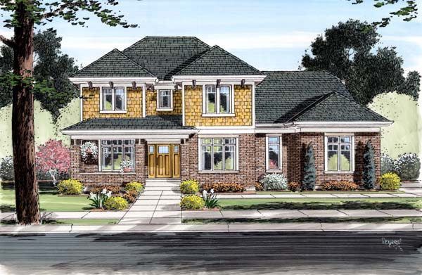 Craftsman House Plan 98651 Elevation
