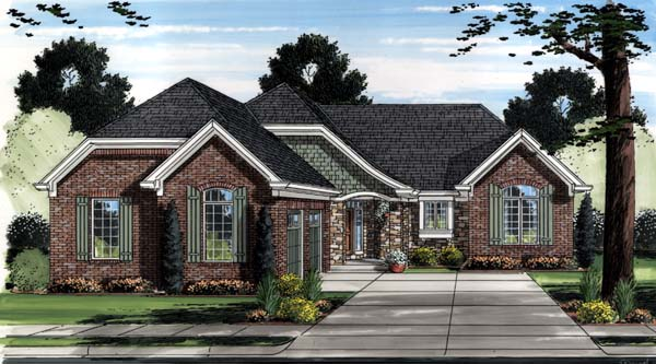 Contemporary Traditional House Plan 98653 Elevation
