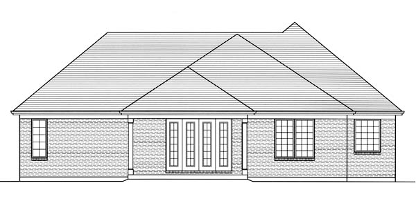 Contemporary Traditional House Plan 98653 Rear Elevation