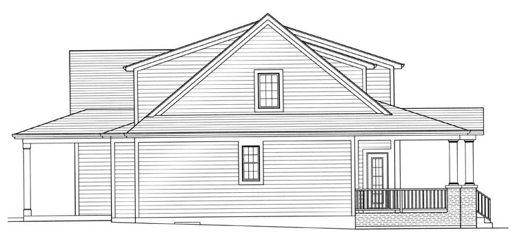 Farmhouse, Traditional House Plan 98656 with 4 Beds, 3 Baths, 3 Car Garage Picture 1
