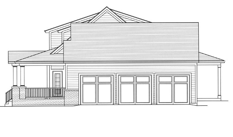 Farmhouse, Traditional House Plan 98656 with 4 Beds, 3 Baths, 3 Car Garage Picture 2