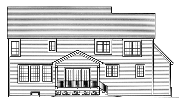 Colonial Country Southern House Plan 98663 Rear Elevation