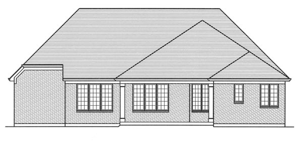 Cottage, Traditional, Tudor House Plan 98664 with 3 Beds, 3 Baths, 2 Car Garage Rear Elevation