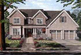 House Plan 98665 | Country Craftsman Traditional Style Plan with 3280 Sq Ft, 4 Bedrooms, 4 Bathrooms, 2 Car Garage Elevation
