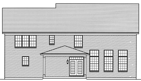 Country Craftsman Traditional House Plan 98665 Rear Elevation