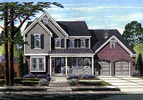 Colonial Country Traditional House Plan 98666 Elevation