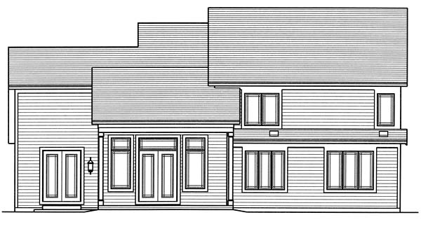 Cottage Country Craftsman House Plan 98667 Rear Elevation