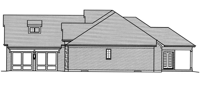 Craftsman, Traditional House Plan 98668 with 3 Beds, 2 Baths, 2 Car Garage Picture 2