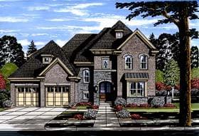 European Traditional Tudor House Plan 98673 Elevation