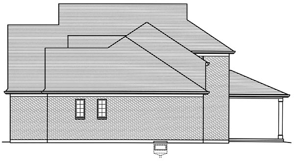 European, Traditional House Plan 98675 with 4 Beds, 3 Baths, 2 Car Garage Picture 2