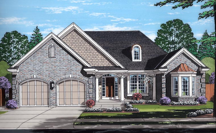 European Traditional House Plan 98676 Elevation