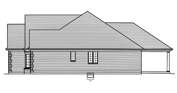 European, Traditional House Plan 98676 with 3 Beds, 2 Baths, 2 Car Garage Picture 2