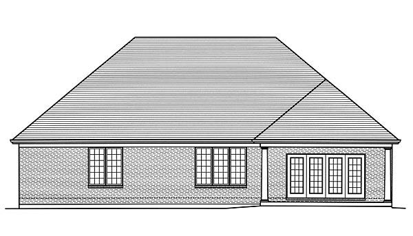 European Traditional House Plan 98676 Rear Elevation