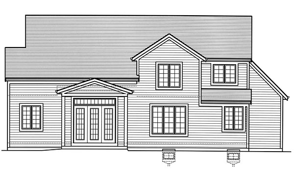 Country Craftsman Traditional House Plan 98677 Rear Elevation