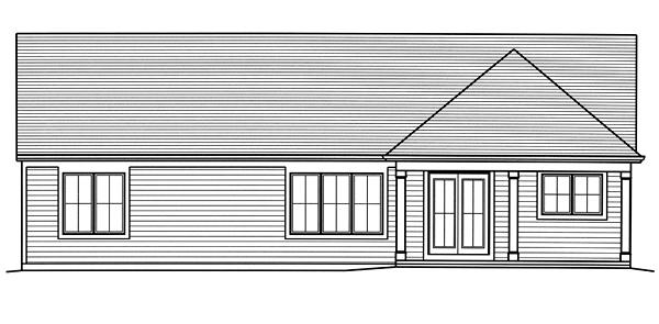 Cottage Craftsman Traditional House Plan 98679 Rear Elevation