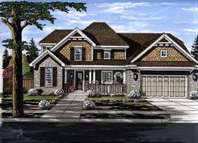 House Plan 98680 | Cottage Country Craftsman Southern Traditional Style Plan with 2303 Sq Ft, 4 Bedrooms, 3 Bathrooms, 2 Car Garage Elevation