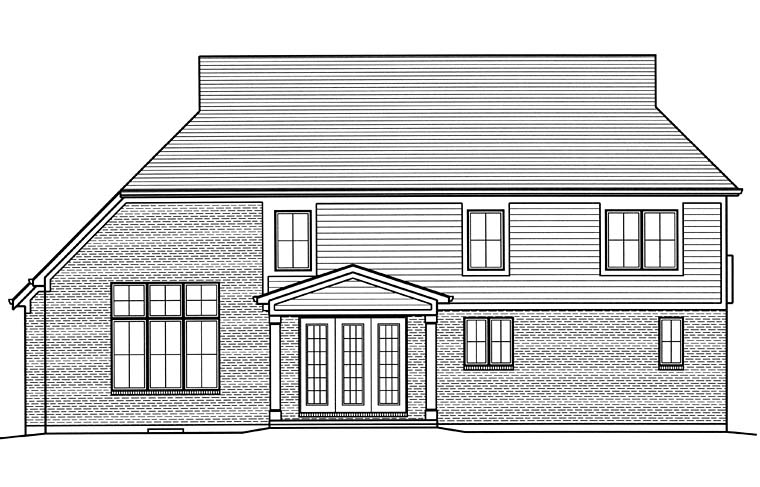 Craftsman European Traditional House Plan 98682 Rear Elevation