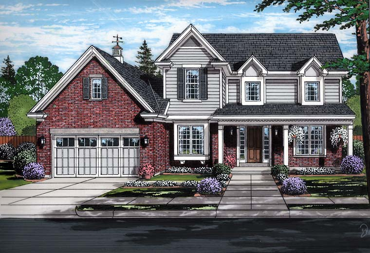 Country Traditional House Plan 98683 Elevation