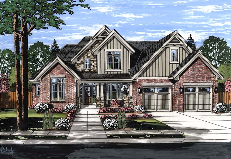Country Craftsman Southern Traditional House Plan 98684 Elevation