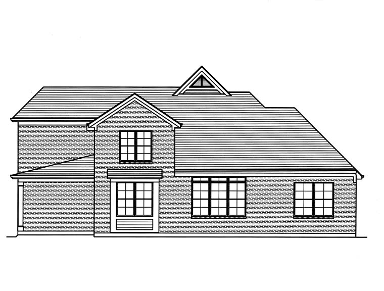 Country Craftsman Southern Traditional House Plan 98684 Rear Elevation