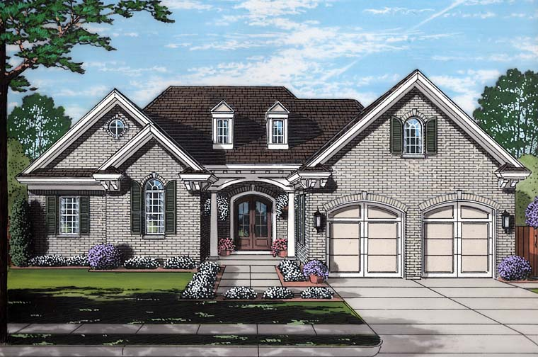 European Southern Traditional House Plan 98686 Elevation