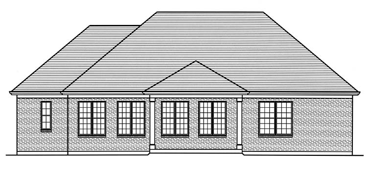 European Southern Traditional House Plan 98686 Rear Elevation