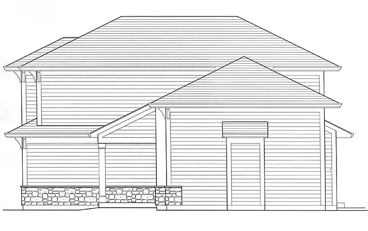 Contemporary, Cottage House Plan 98690 with 3 Beds, 3 Baths, 2 Car Garage Picture 1