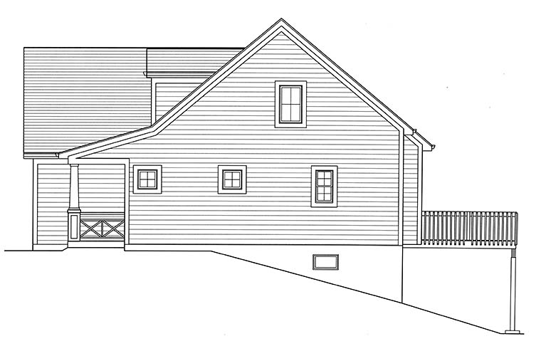 Cape Cod, Country, Southern House Plan 98691 with 3 Beds, 3 Baths, 2 Car Garage Picture 1