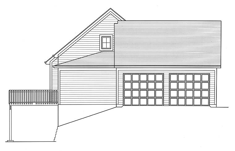 Cape Cod, Country, Southern House Plan 98691 with 3 Beds, 3 Baths, 2 Car Garage Picture 2