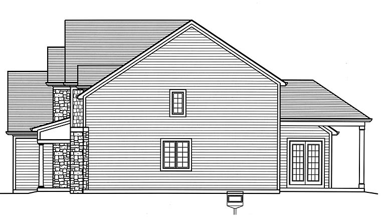 Country, Craftsman, Traditional House Plan 98692 with 4 Beds, 4 Baths, 3 Car Garage Picture 1