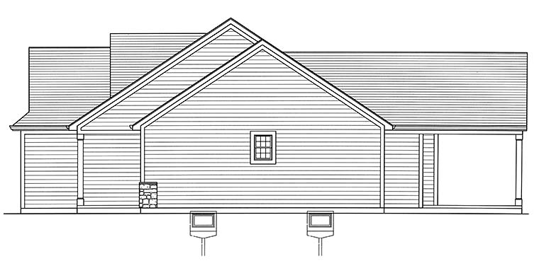 Bungalow, Cottage, Ranch House Plan 98695 with 3 Beds, 2 Baths, 2 Car Garage Picture 1