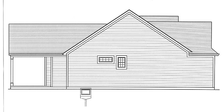 Bungalow, Cottage, Ranch House Plan 98695 with 3 Beds, 2 Baths, 2 Car Garage Picture 2