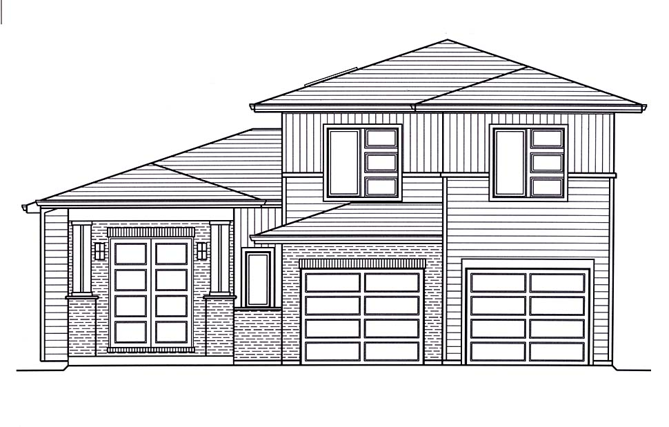 Contemporary House Plan 98697 with 3 Beds, 3 Baths, 2 Car Garage Picture 3