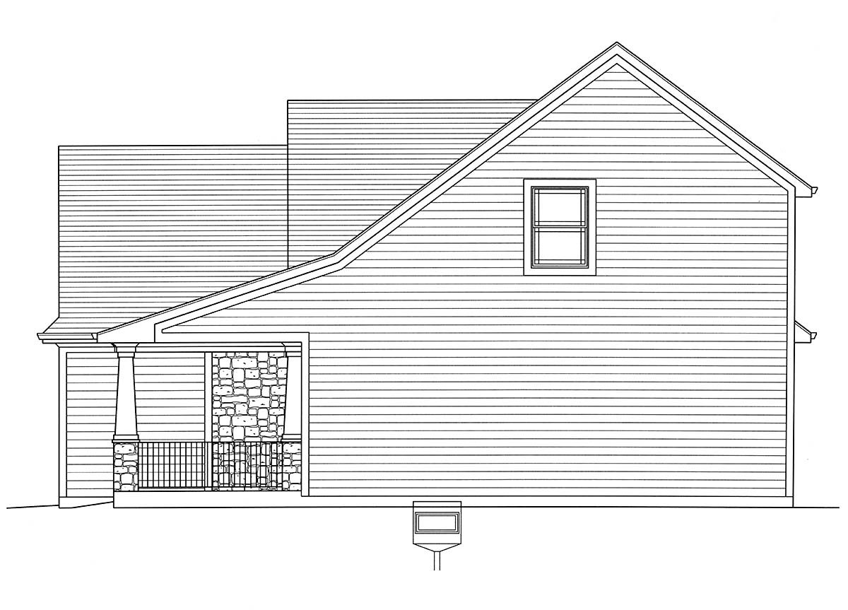 Bungalow, Cape Cod, Cottage House Plan 98698 with 4 Beds, 3 Baths, 2 Car Garage Picture 1