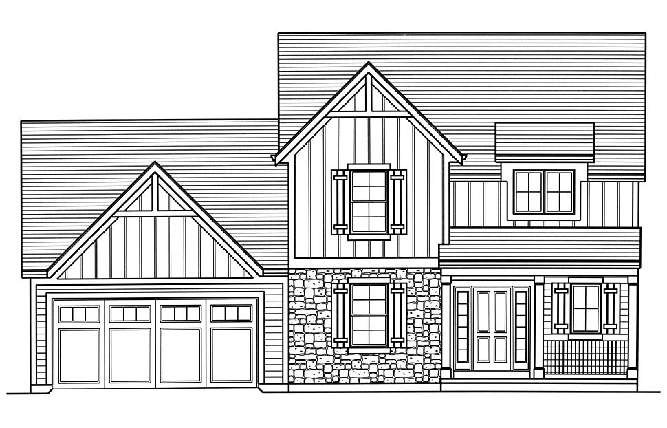 Colonial, Country, Traditional House Plan 98699 with 3 Beds, 3 Baths, 2 Car Garage Picture 3