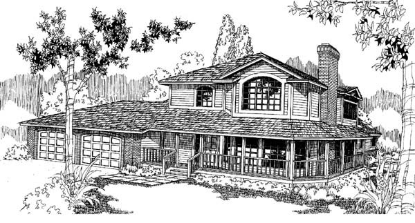 Country Farmhouse House Plan 98704 Elevation