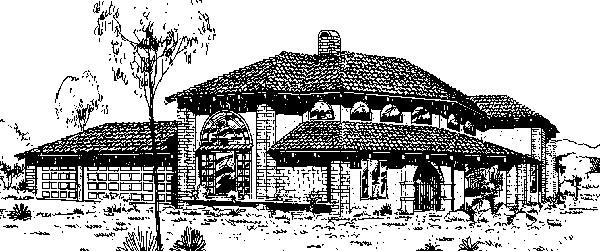 Mediterranean House Plan 98706 Elevation