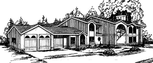 Contemporary House Plan 98713 Elevation
