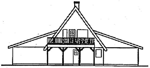 A-Frame Contemporary House Plan 98714 Rear Elevation