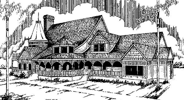 Farmhouse Victorian House Plan 98722 Elevation